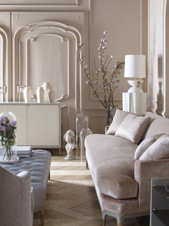 Estilo clasico moderno 3 curso de decoracion de for Interiores clasicos