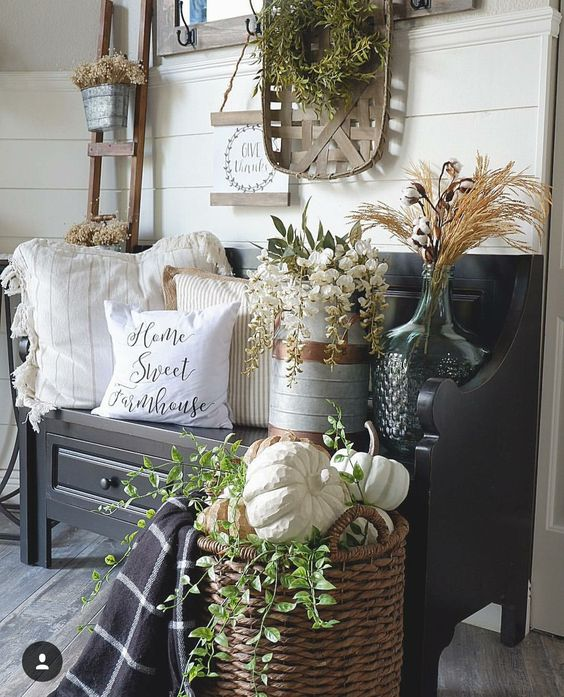 granja o framhouse chic para decoracion de interiores
