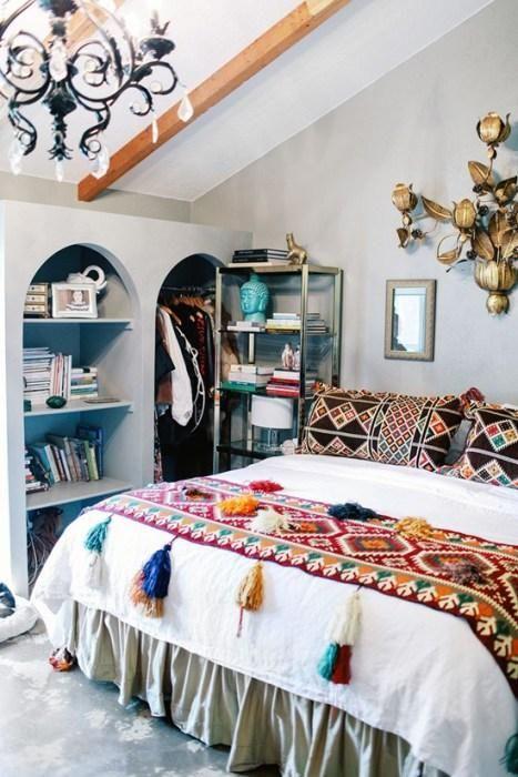 tendencias o estilos en decoracion de interiores bohemio o boho chic (10)