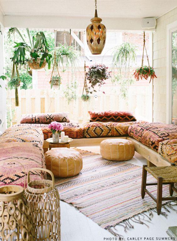 tendencias o estilos en decoracion de interiores bohemio o boho chic (3)