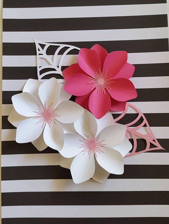 Moldes e ideas para hacer flores de papel gigantes