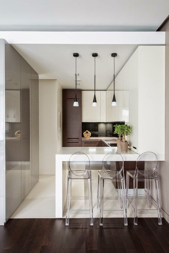 Barras De Cocina Modernas. Stunning Ideas Cocinas Estrechas Buscar ...