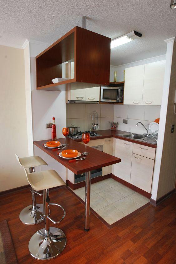 la barra o desayunador es un complemento de la cocina por eso te sugiero seguir con la decoracin de esta habitacin para que luzca dentro de contexto with