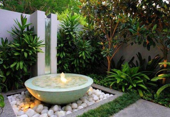 Fuentes estilo zen para jardín