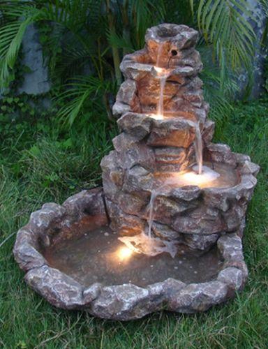 Fuentes para jardin de piedra
