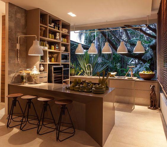 Fotos de modernas cocinas con desayunadores