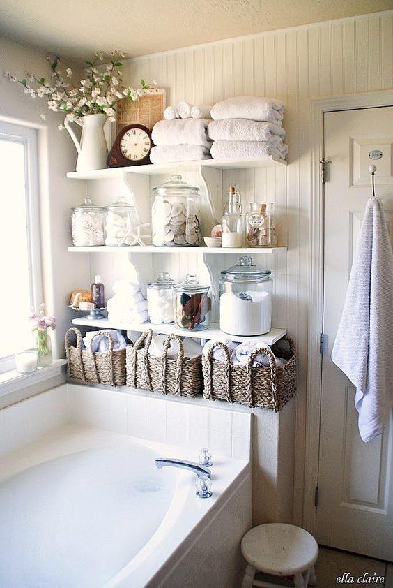 Almacenaje en baños pequeños