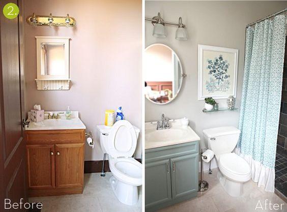 Reemplaza los accesorios de los muebles de baño