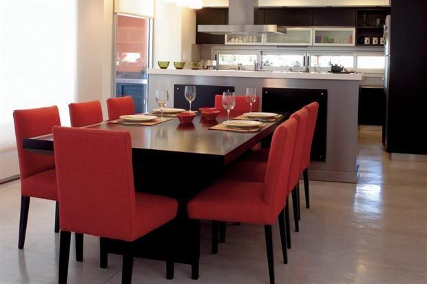 125 formas para decorar tu comedor decoracion de for Comedor y cocina en un mismo ambiente