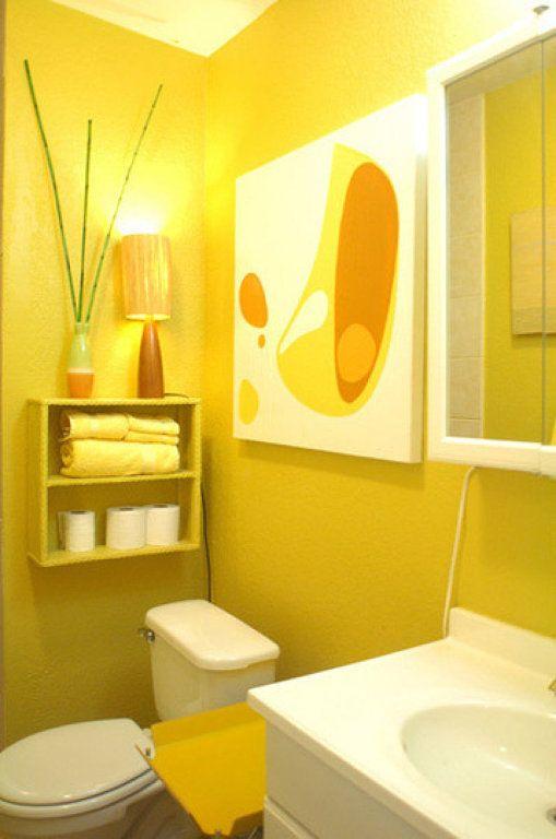 Baño Amarillo Decoracion:Decoracion de baños en color amarillo (10)
