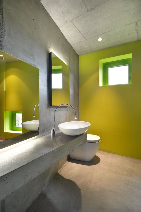 Baño Amarillo Decoracion:Decoracion de baños en color amarillo (13)