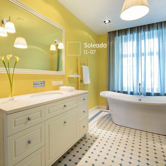 Baño Amarillo Decoracion:Decoracion de baños en color amarillo