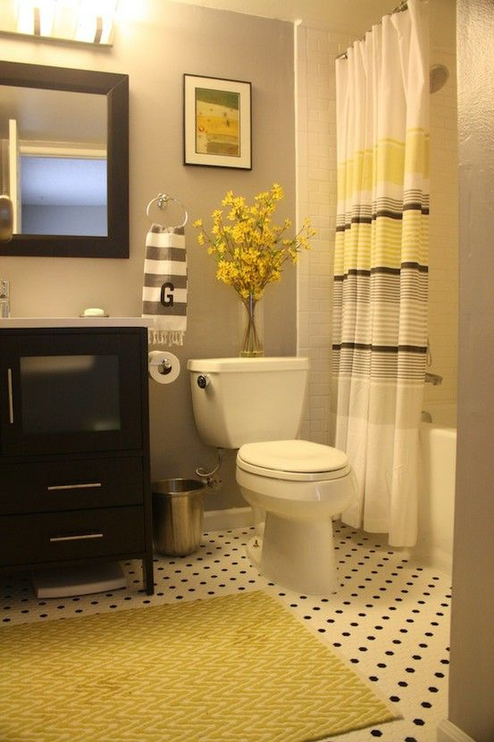 Baño Amarillo Decoracion:Yellow and Grey Bathroom