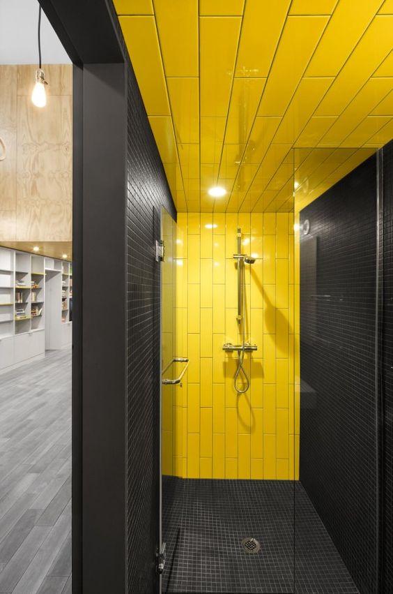 Baño Amarillo Decoracion:Decoracion de baños en color amarillo (9)