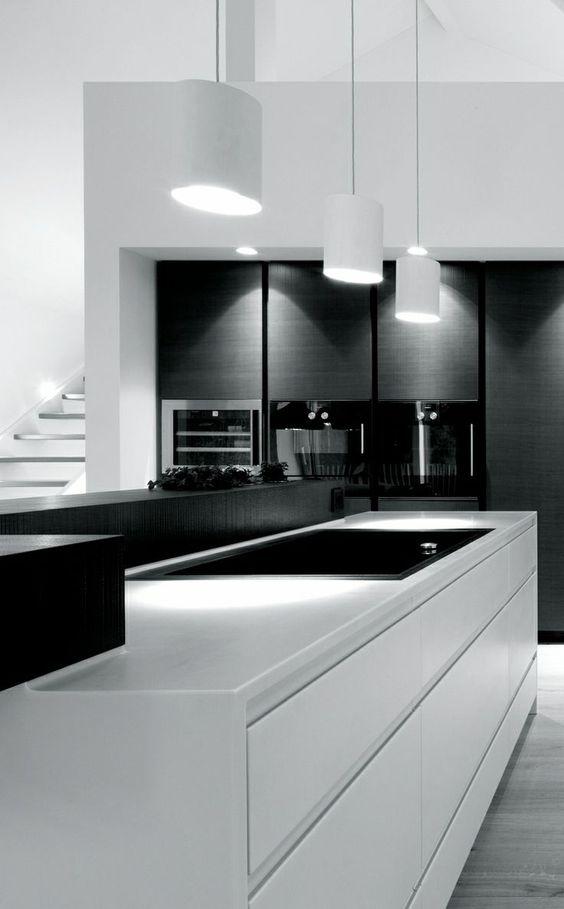 Decoracion de cocinas en blanco y negro 11 decoracion - Cocinas en blanco y negro ...