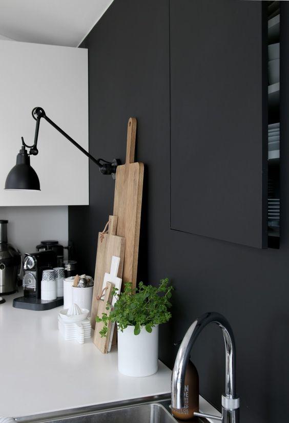 Decoracion de cocinas en blanco y negro 23 decoracion - Cocinas en blanco y negro ...
