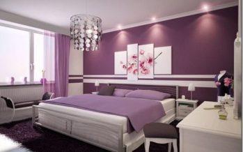 Decoracion de  habitaciones en color morado