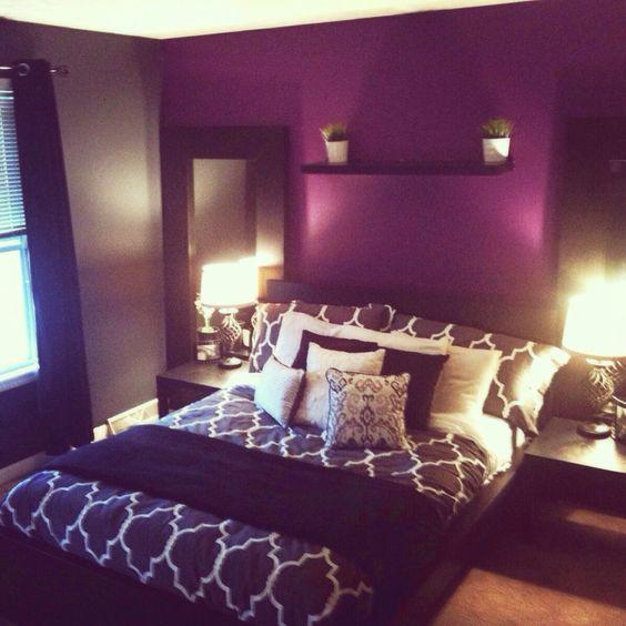 Decoracion de habitaciones en color morado (15 ...