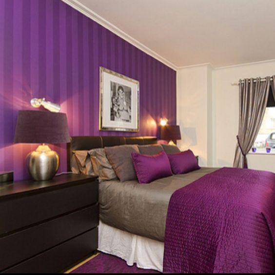 Decoracion de habitaciones en color morado (17 ...