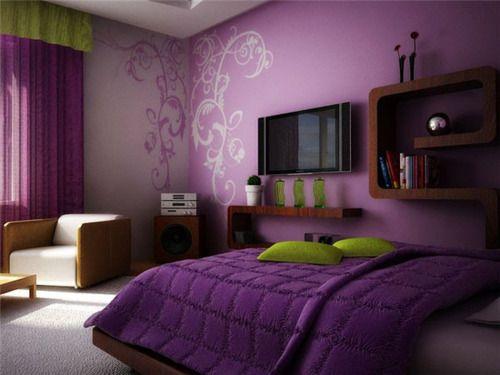 Decoracion de habitaciones en color morado 9 for Decoracion de interiores habitaciones