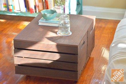 Como decorar mesa de centro con caja de madera rustica - Como decorar cajas de madera para centros de mesa ...