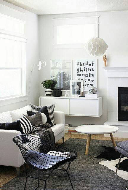 Decoracion de salas en Blanco y Negro – Decoracion de interiores ...