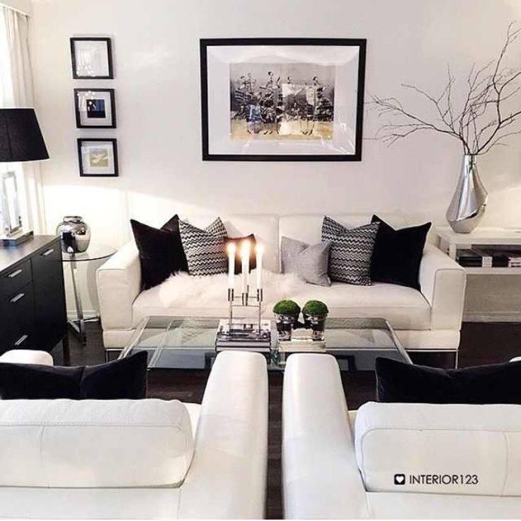 Decoracion de salas en Blanco y Negro