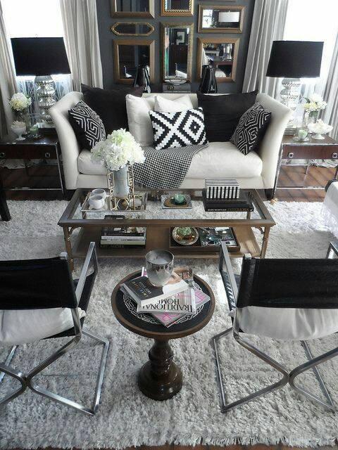 Decoracion de salas blanco y negro 16 decoracion de for Sala de estar blanco y negro