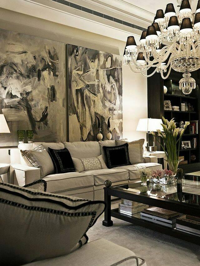 Decoracion de salas blanco y negro 6 curso de decoracion de interiores interiorismo - Decoracion de interiores cursos ...