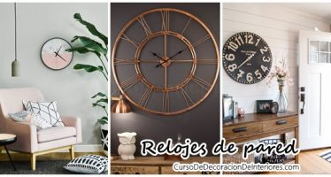 Agrega relojes a la decoración de tu hogar