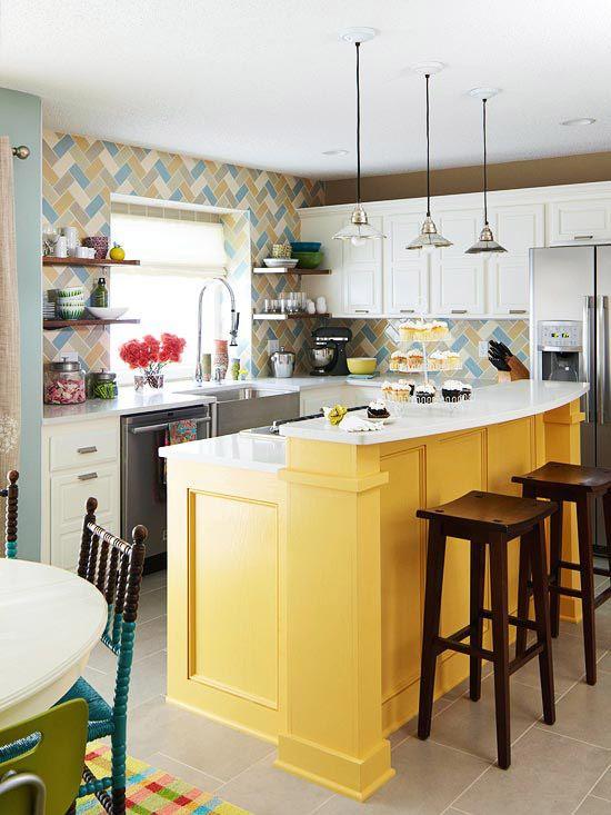 animate-a-decorar-tu-hogar-con-cocinas-amarillas-27 | Decoracion de ...
