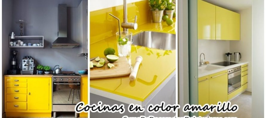 Animate a decorar tu hogar con cocinas amarillas - Cocinas amarillas ...