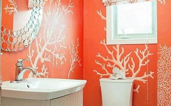 Decoracion de baños color naranja