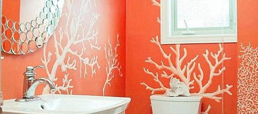 Decoracion de ba os color naranja decoracion de for Great un bano con paredes en naranja de