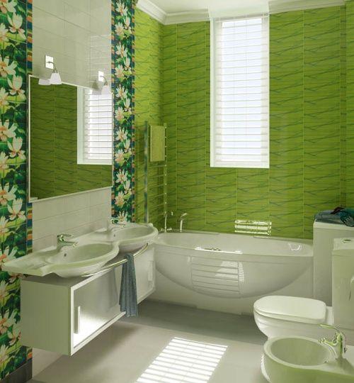 Decoracion de ba os color verde manzana 10 decoracion for Decoracion de interiores verde