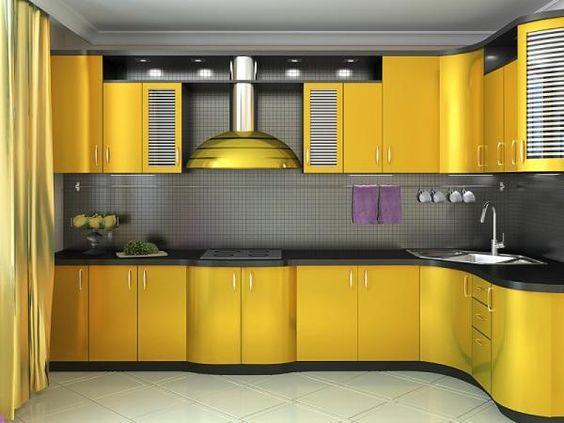Decoracion de cocina en color amarillo (11)   Decoracion de ...