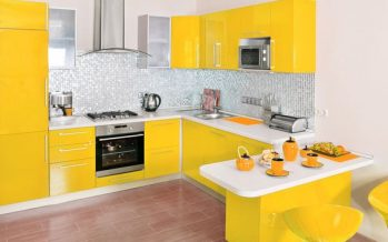 Decoracion de cocina en color amarillo