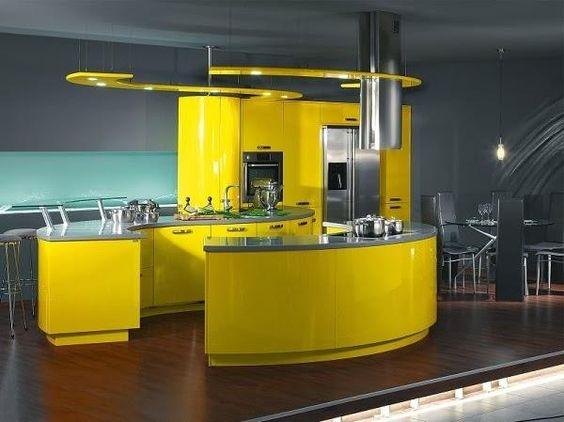 Decoracion de cocina en color amarillo (9)   Decoracion de ...