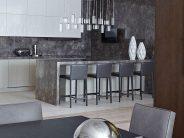 Decoracion de cocina en color gris