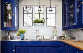 Decoracion de cocinas en color azul marino