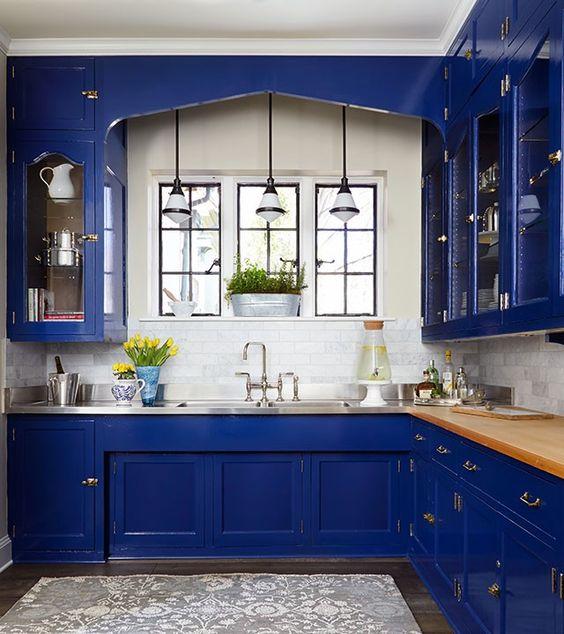 Decoracion de cocinas en color azul marino | Decoracion de ...