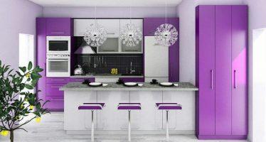 Decoracion de cocinas en color morado