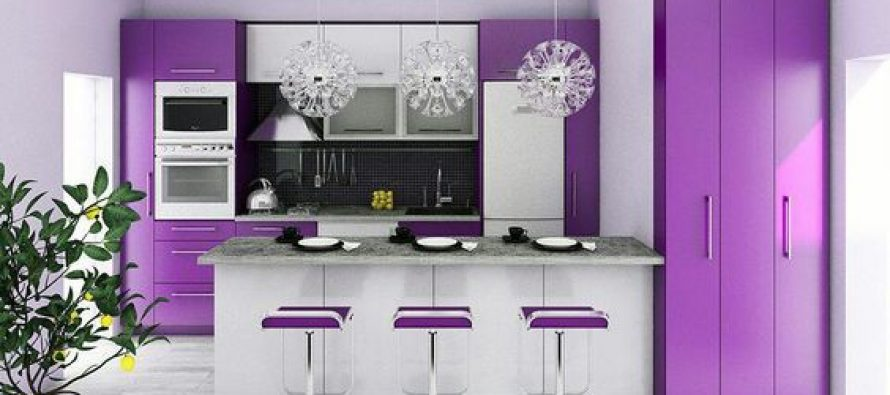 Decoracion de cocinas en color morado