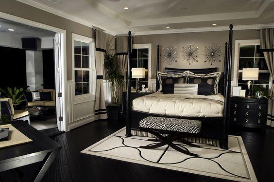 decoracion de recamaras en color negro 2 decoracion de