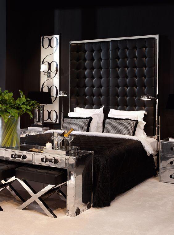 Decoracion de recamaras en color negro 22 decoracion for Recamaras modernas 2016
