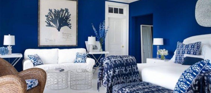 Decoracion de salas en color azul