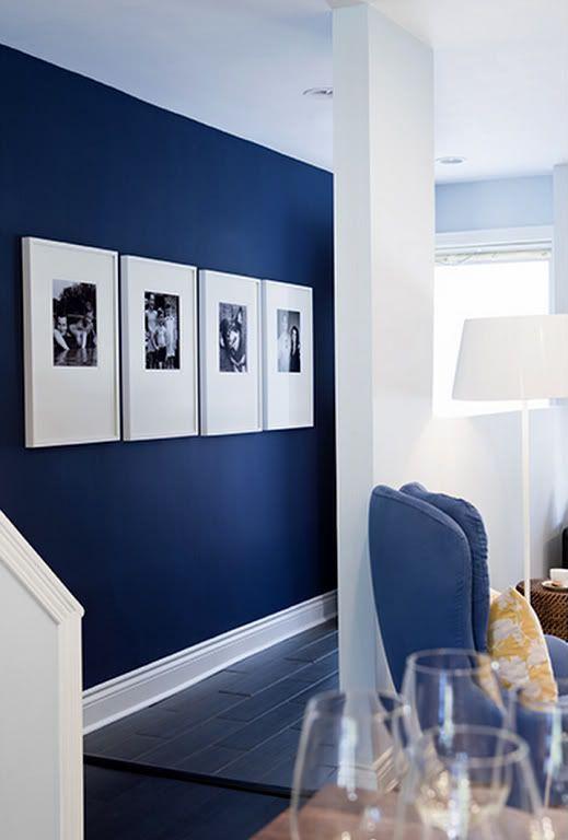 Paredes Pintadas De Azul Awesome Pintadas Salones Modernos Con - Paredes-pintadas-de-azul