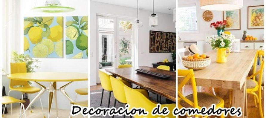 Decoraci n de comedores en color amarillo decoracion de - Decoracion en amarillo ...