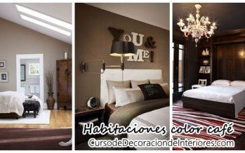 Decoración de habitaciones en color café