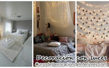 Decoración de habitaciones juveniles con luces